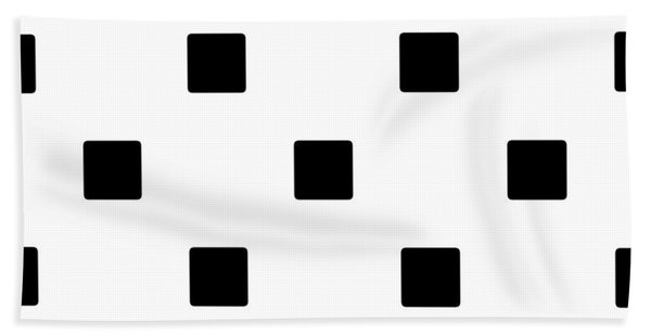 Black Squares On A White Background- Ddh574 Bath Towel