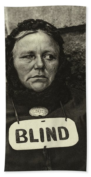 Blind Woman, 1916 Hand Towel