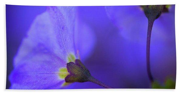 Blue Flower Bath Towel