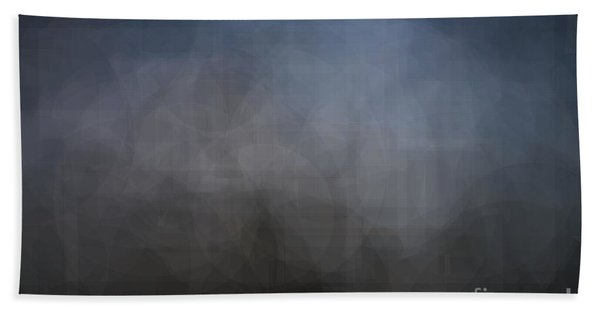 Blue Gray Abstract Background With Blurred Geometric Shapes. Bath Towel