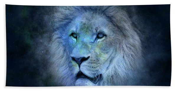 Blue Lion Hand Towel