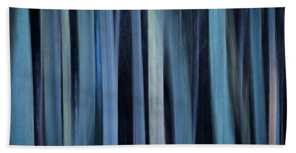 Blue Trees 1 Hand Towel