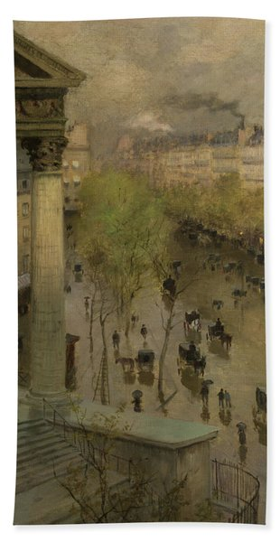 Boulevard De La Madeleine In Paris, 1897 Bath Towel
