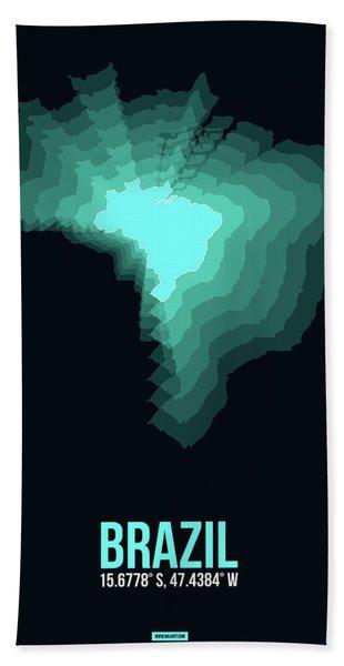 Brazil Radiant Map 2 Hand Towel