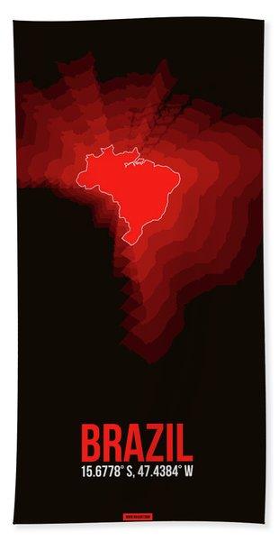 Brazil Radiant Map 3 Hand Towel