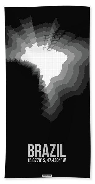 Brazil Radiant Map 4 Hand Towel