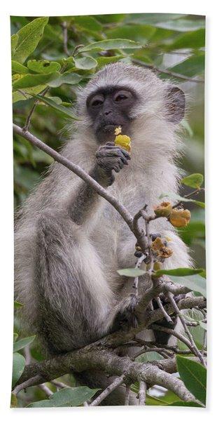 Breakfasting Monkey Hand Towel