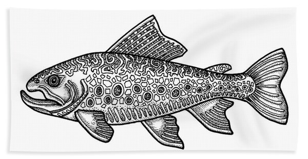 Brook Trout Bath Towel