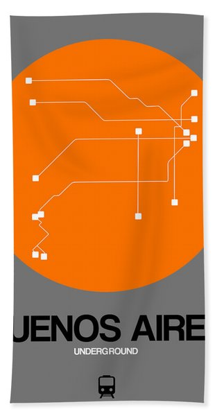 Buenos Aires Orange Subway Map Hand Towel