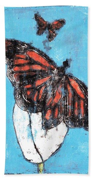 Butterfly Garden Summer 1 Bath Towel