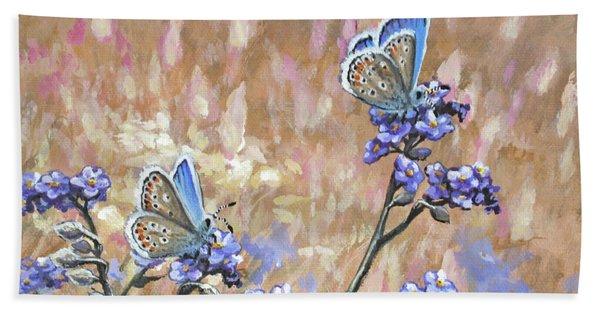 Butterfly Meadow - Part 3 Bath Towel