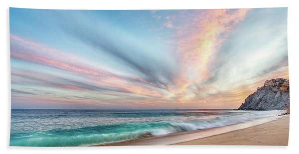 Cabo San Lucas Beach Wave Sunset Bath Towel