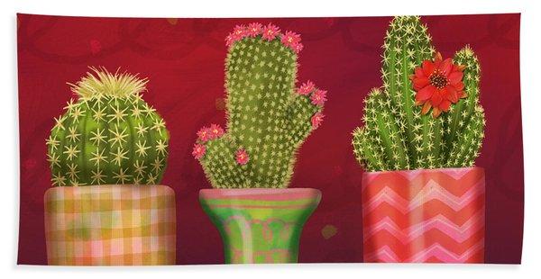 Cactus Friends I Bath Towel