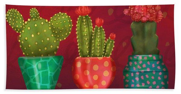Cactus Friends II Bath Towel