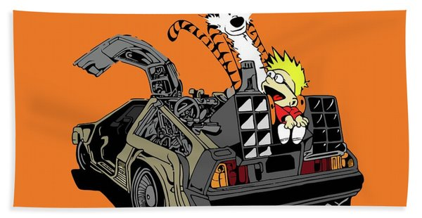 Calvin And Hobbes Death Race Hand Towel