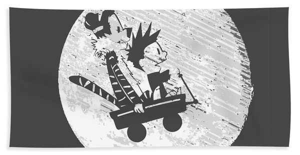 Calvin And Hobbes Graystyle Hand Towel