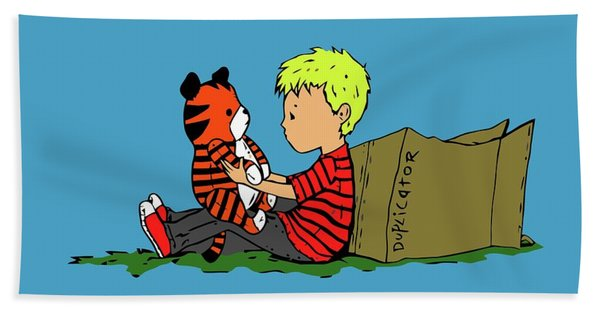 Calvin Kids And Hobbes Hand Towel