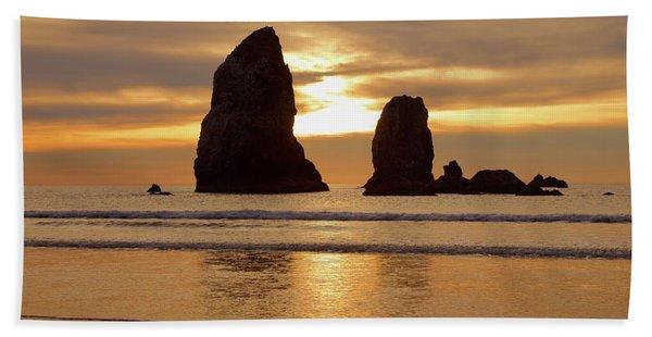 Cannon Beach November Sunset Hand Towel