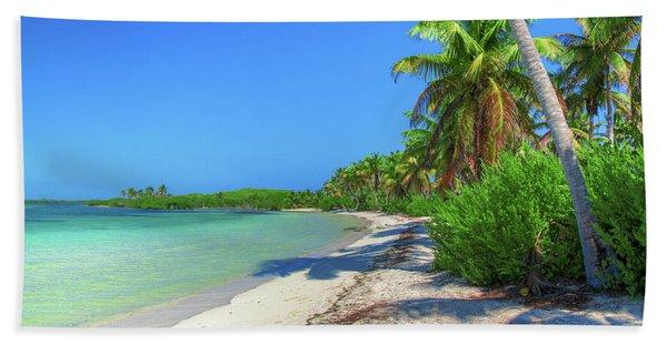 Caribbean Palm Beach Bath Towel