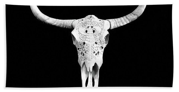 Carved Animal Skull  Hand Towel