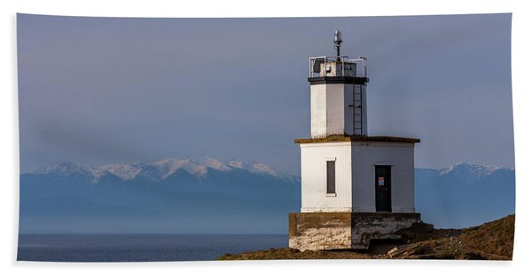 Cattle Point Lighthouse Bath Towel