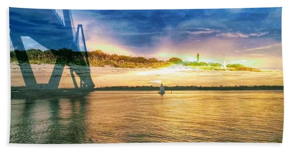 Charleston Harbor Sc Hand Towel