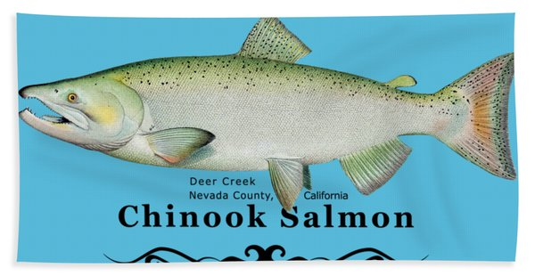 Chinook Salmon Disrupted Hand Towel