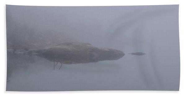 Cliffs In Fog Bath Towel