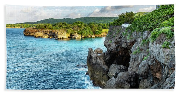 Cliffside Views Portland Jamaica Hand Towel
