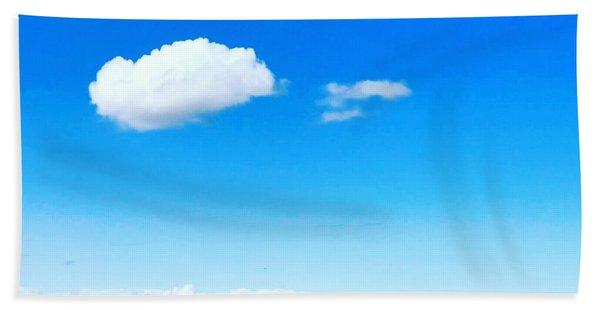 Cloud In Blue Bath Towel