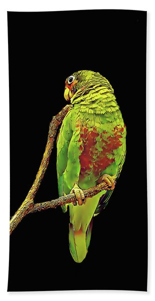 Colorful Parrot Bath Towel