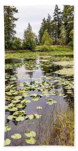 Comox Valley Pond Bath Towel