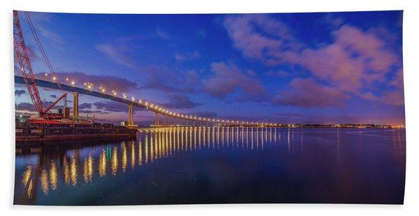 Coronado Bridge Sunrise - Panorama Hand Towel