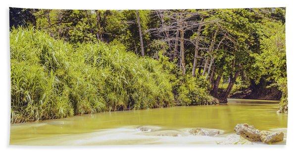 Country River In Trelawny Jamaica Bath Towel