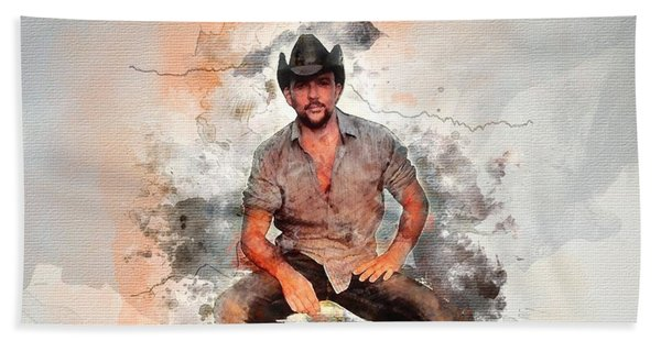 Cowboy Flanery Hand Towel