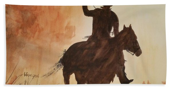 Cowboy Hero Bath Towel