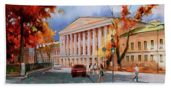 Creation Of M.v. Kazakov. Strastnoy Boulevard. Bath Towel