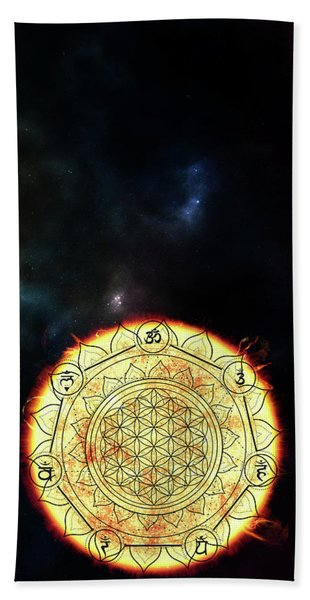 Bath Towel featuring the digital art Creative Force by Bee-Bee Deigner