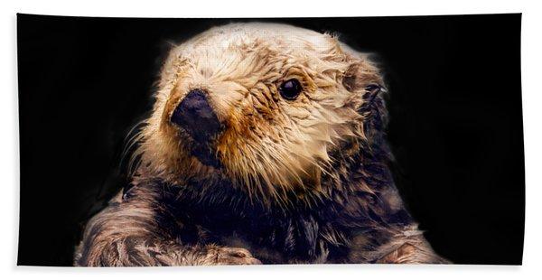 Cute Sea Otter Hand Towel