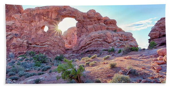 Desert Sunset Arches National Park Bath Towel