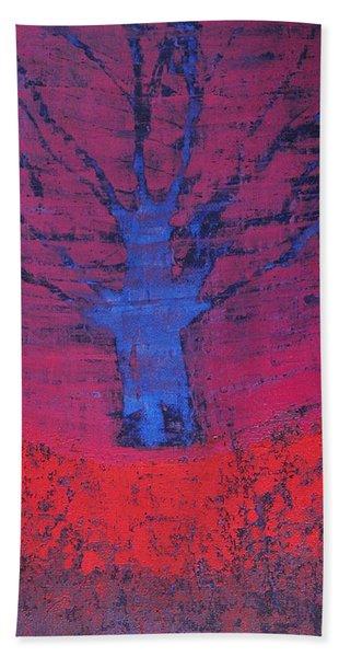 Disappearing Tree Original Painting Hand Towel