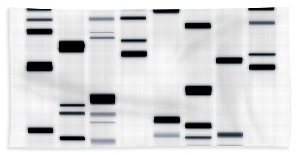 Dna Art Black On White Bath Towel