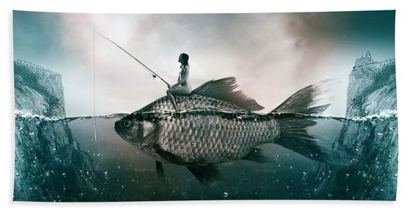 Dream Fishing Hand Towel