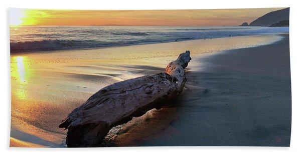Drift Wood At Sunset II Bath Towel