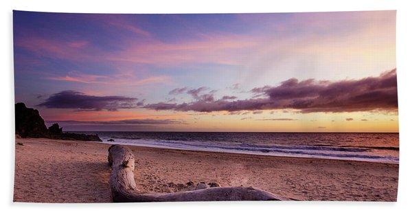 Driftwood At Sunset Hand Towel