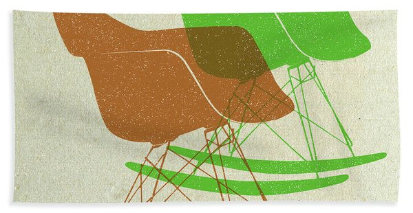 Eames Rocking Chairs I Hand Towel