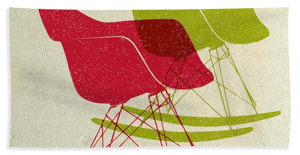 Eames Rocking Chairs II Hand Towel