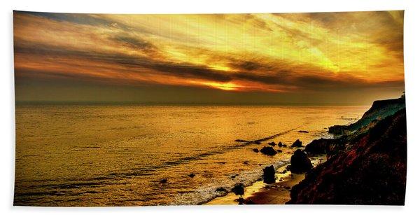 El Matador Beach Sunset Hand Towel