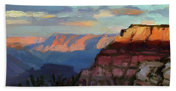 Evening Light At The Grand Canyon Hand Towel