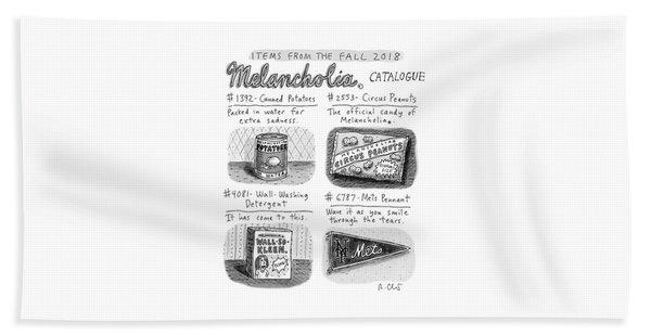 Fall 2018 Melancholia Catalog Bath Towel
